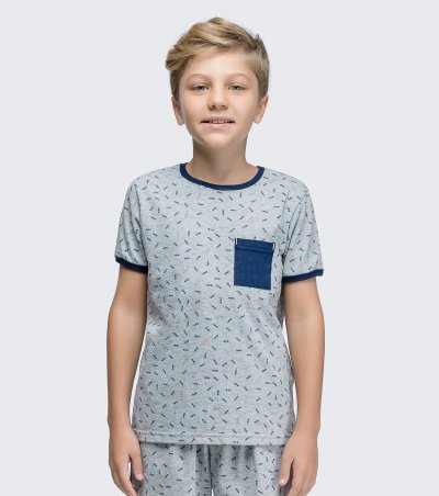 Pijama Manga Curta Infantil - 66353