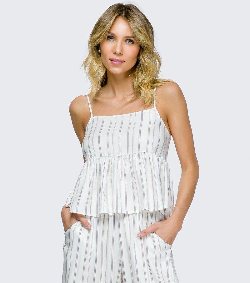 Pijama Alça com Calça Pantacourt - 11078
