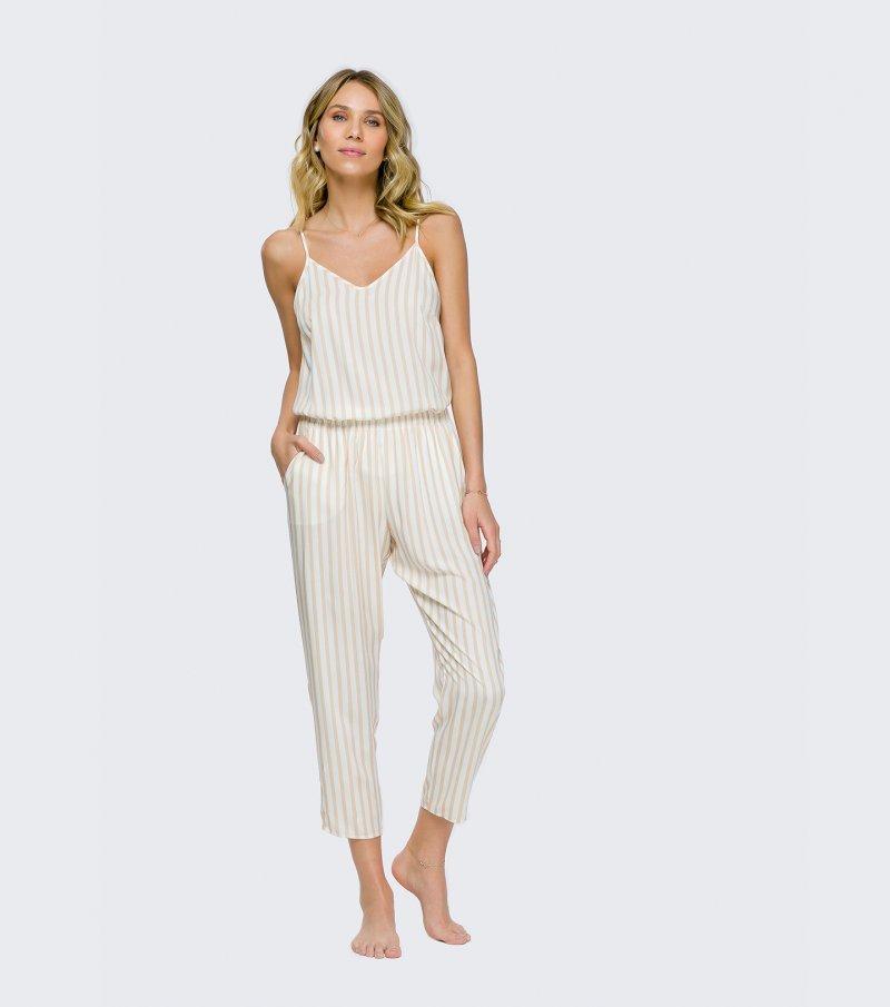 Pijama de Alça com Calça Cigarrete - 11087