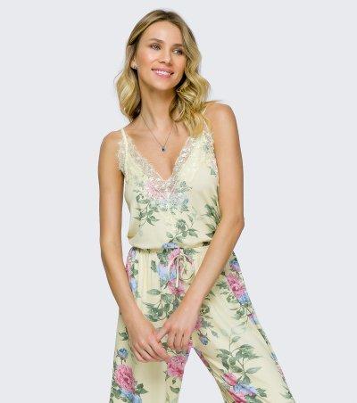 Pijama Alça com Calça Pantacourt - 12161