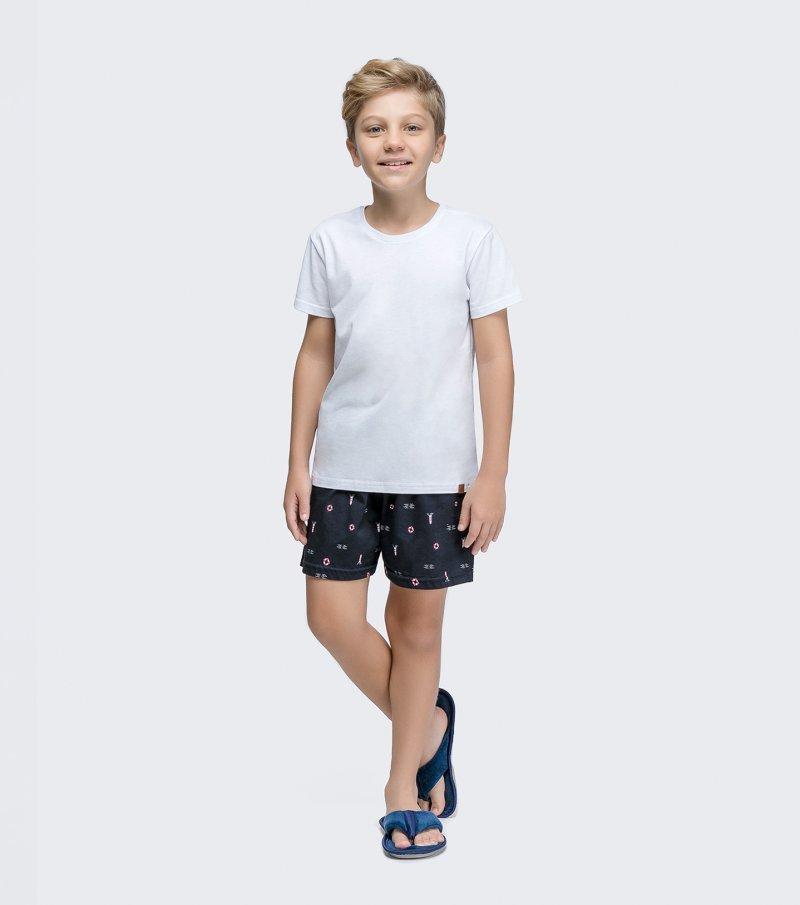 Pijama Manga Curta Infantil - 66356
