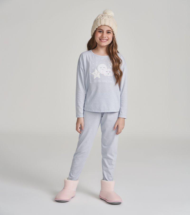 Pijama Manga Longa Infantil - 67454