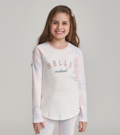 Pijama Manga Longa com Legging Infantil - 67465