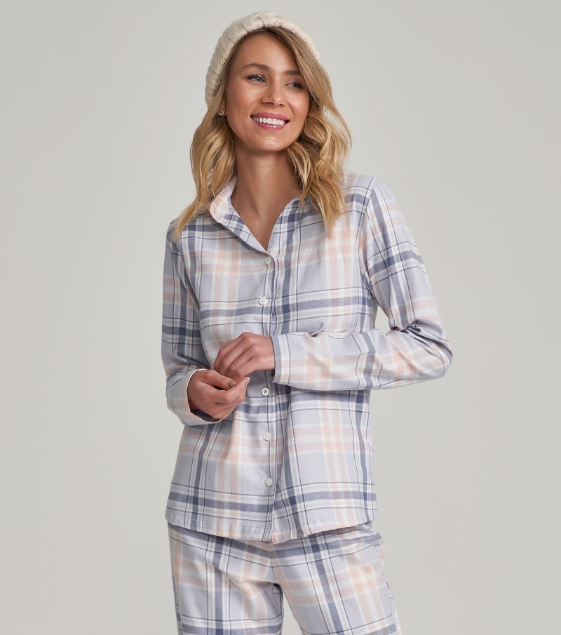 Pijama Manga Longa com Abertura - 12228