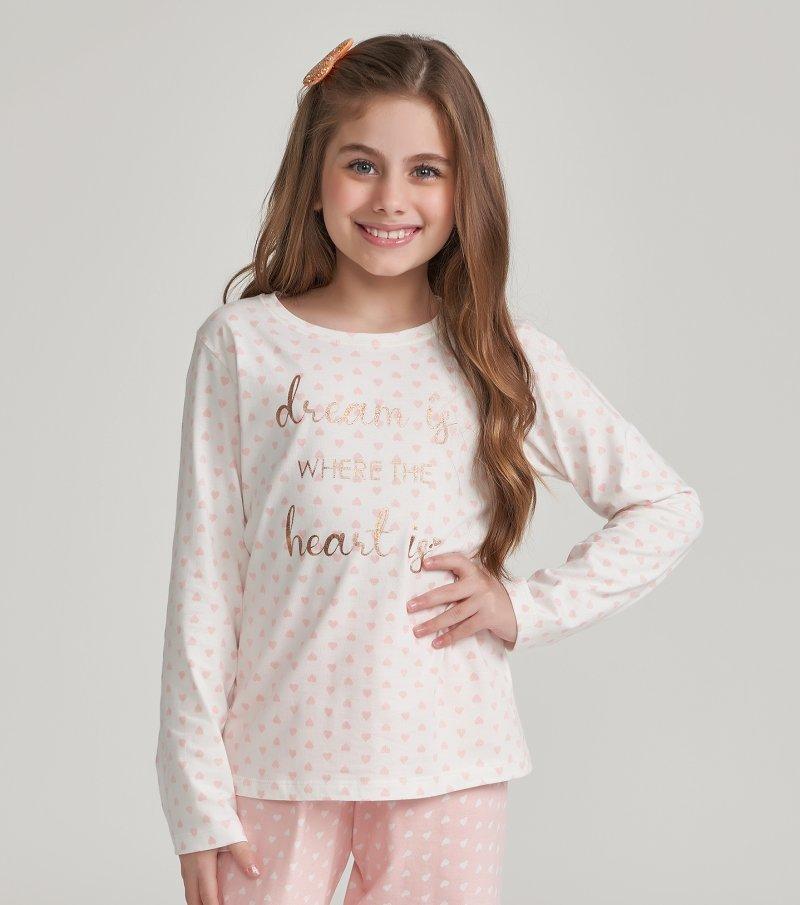 Pijama Manga Longa Infantil - 67451