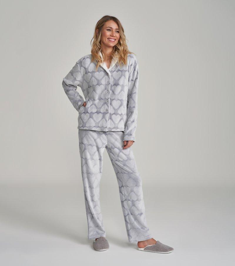 Pijama Manga Longa com Abertura - 12181