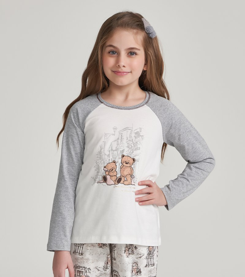 Pijama Manga Longa Infantil - 67452