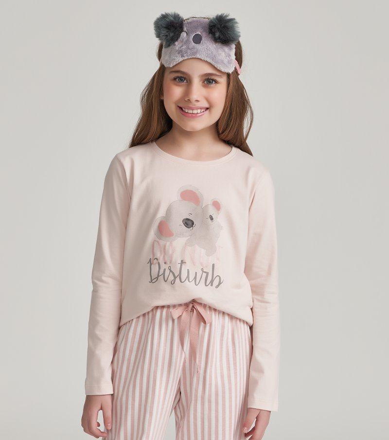 Pijama Manga Longa Infantil - 67447