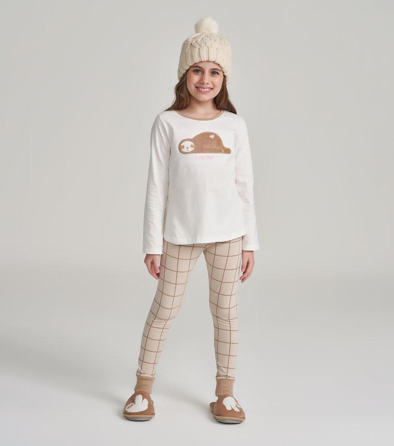 Pijama Manga Longa com Legging Infantil - 67449