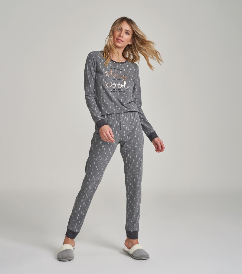 Pijama Manga Longa - 12230