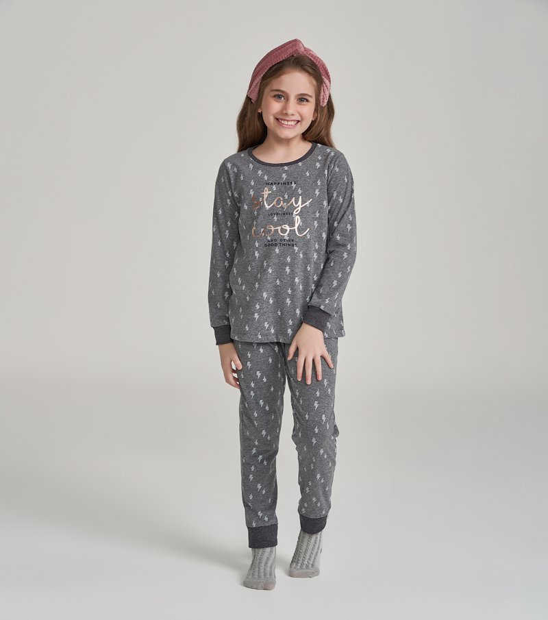 Pijama Manga Longa Infantil - 67455