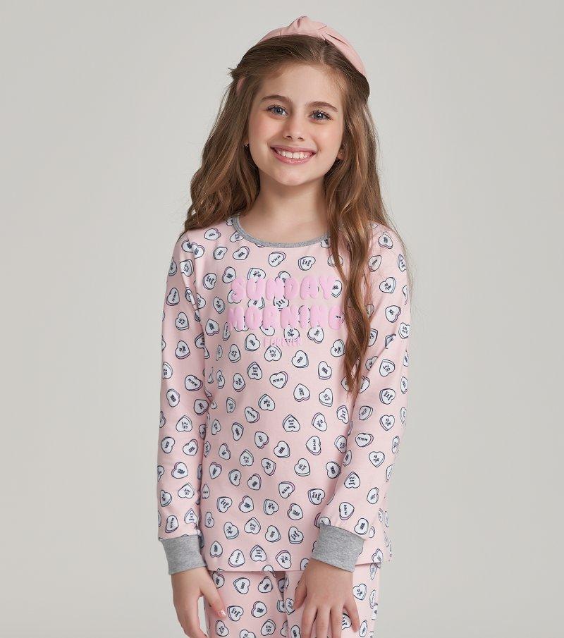 Pijama Manga Longa Infantil - 67470
