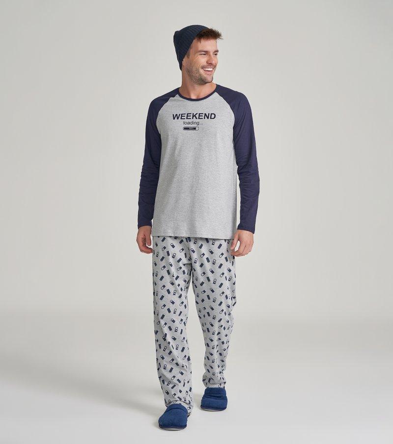 Pijama Manga Longa - 30035