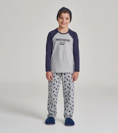 Pijama Manga Longa Infantil - 66370