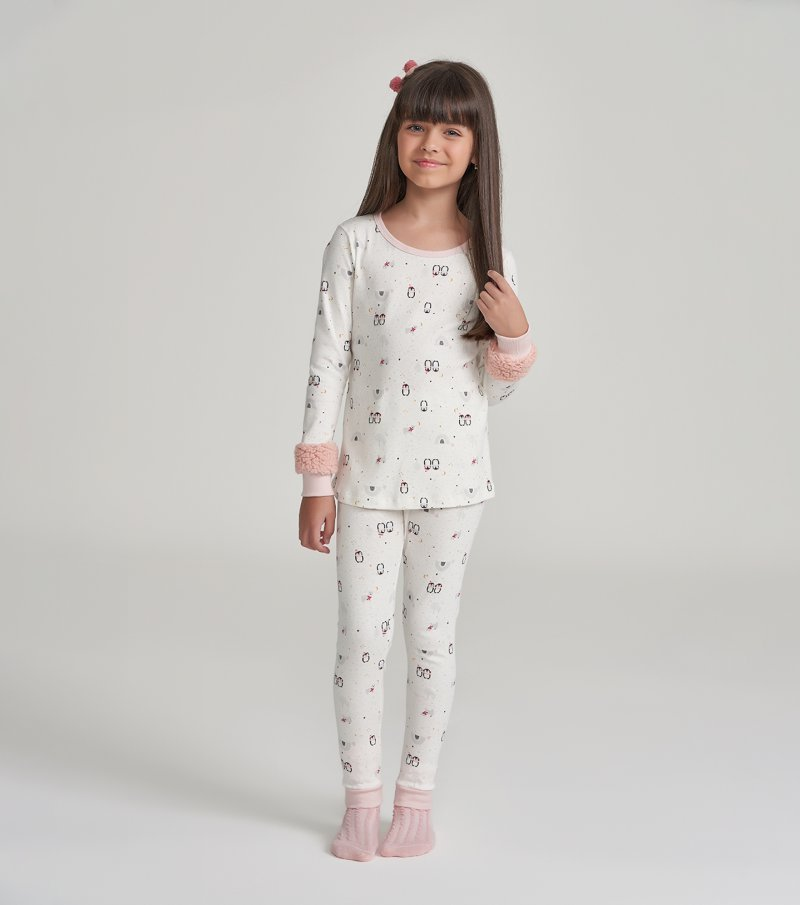 Pijama Manga Longa com Legging Infantil - 67460