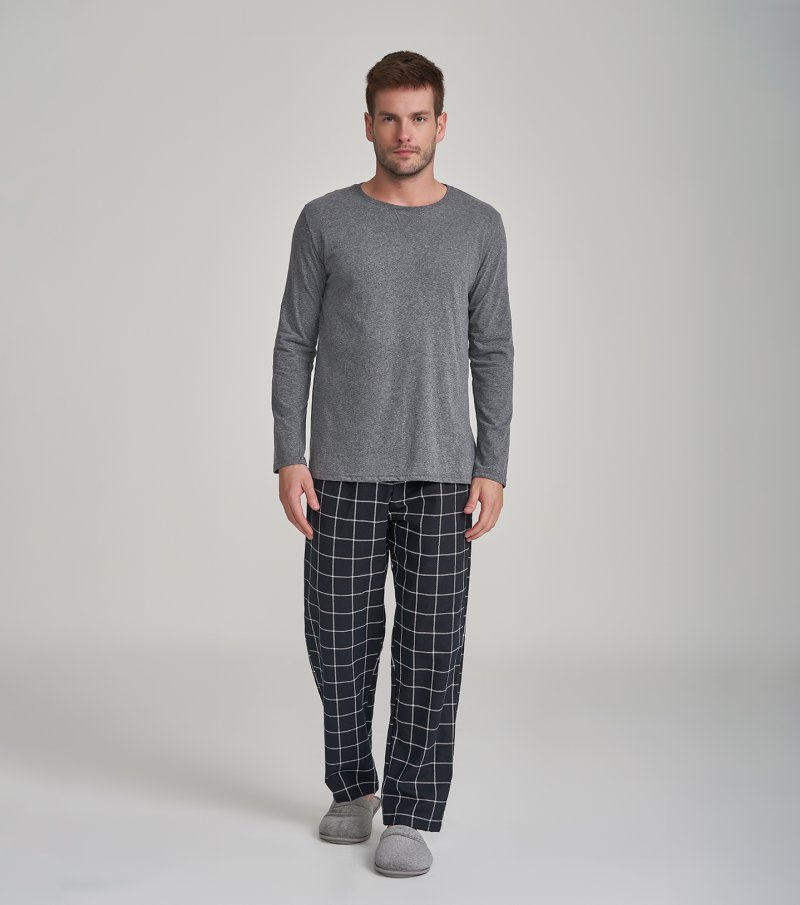 Pijama Manga Longa - 30025