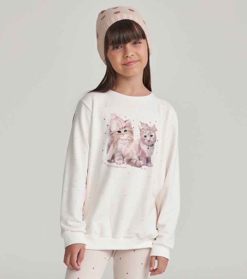 Pijama Manga Longa com Legging Infantil - 67457