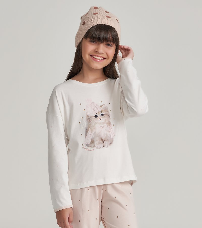 Pijama Manga Longa Infantil - 67458