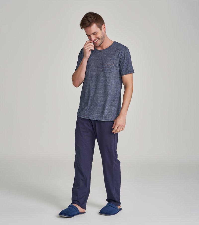 Pijama Manga Curta - 30039