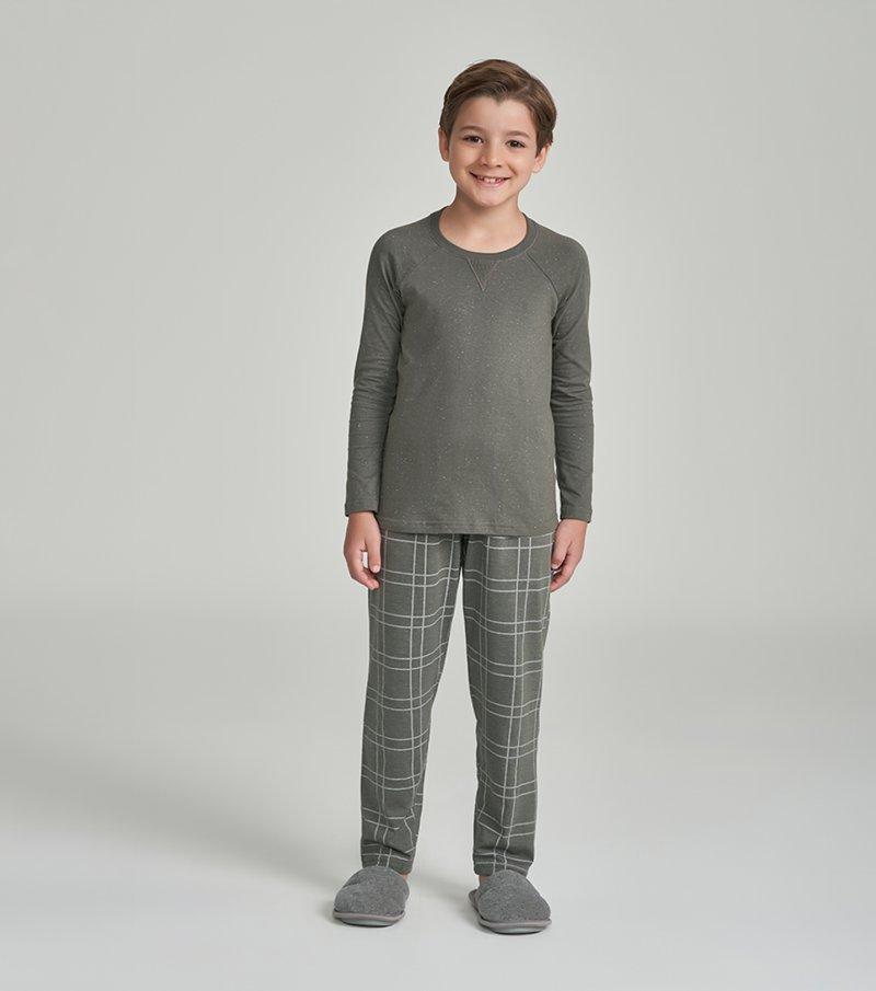 Pijama Manga Longa Infantil - 66360