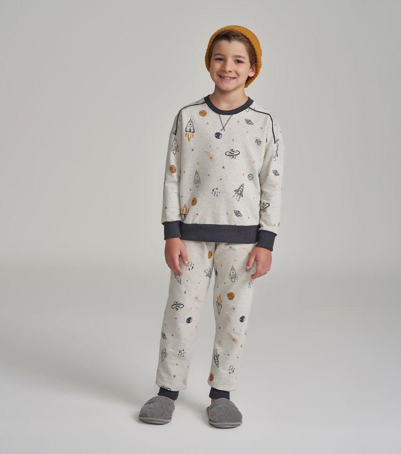 Pijama Manga Longa Infantil - 66363