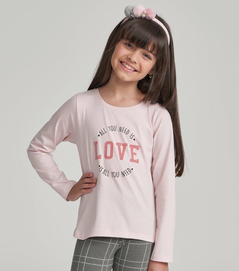 Pijama Manga Longa com Legging Infantil - 67456