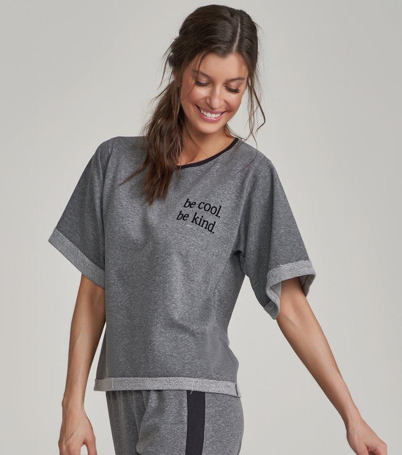 Pijama Manga Curta - 12305
