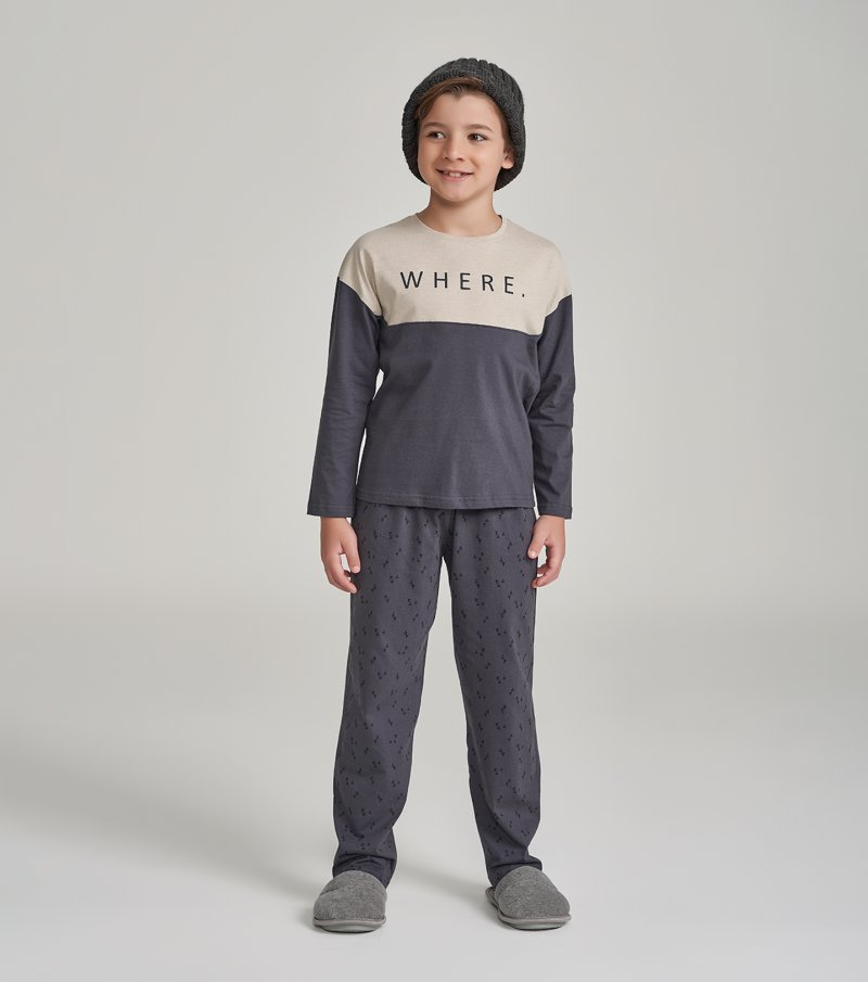Pijama Manga Longa Infantil - 66362