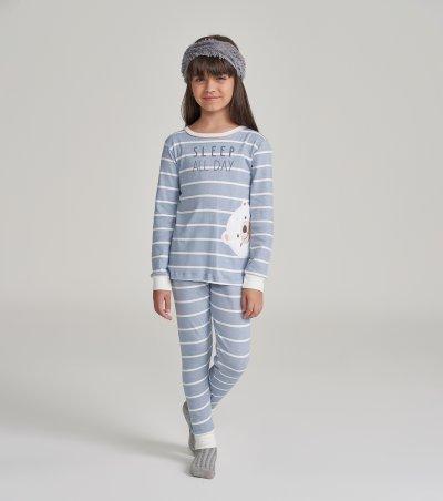 Pijama Manga Longa Infantil - 67450
