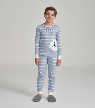 Pijama Manga Longa Infantil - 66359