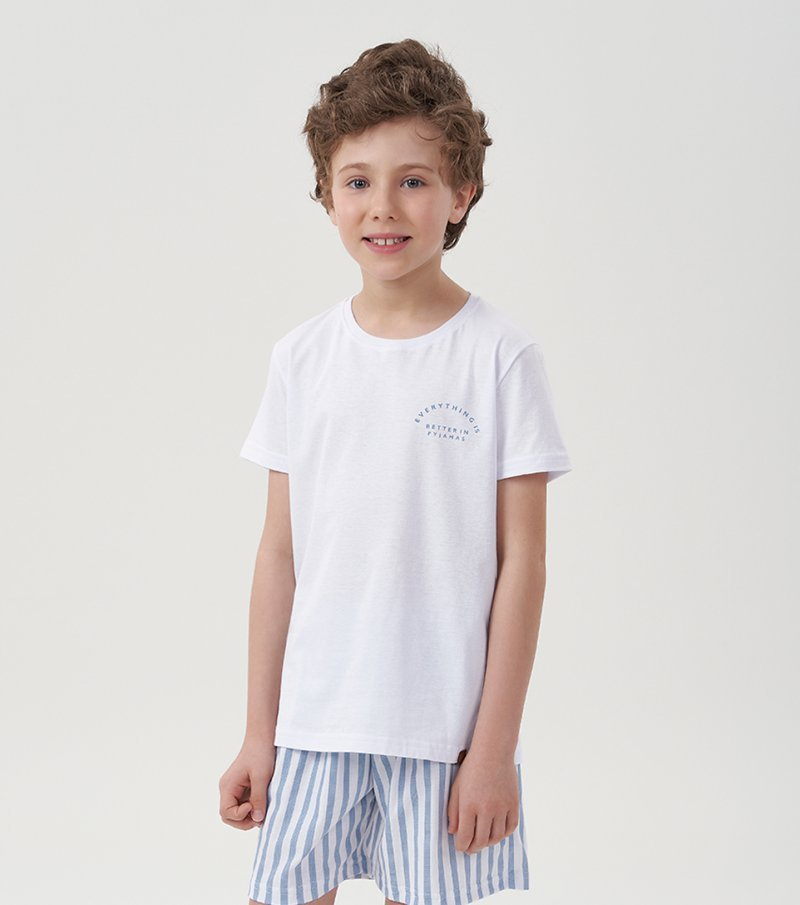 Pijama Manga Curta Infantil - 66371