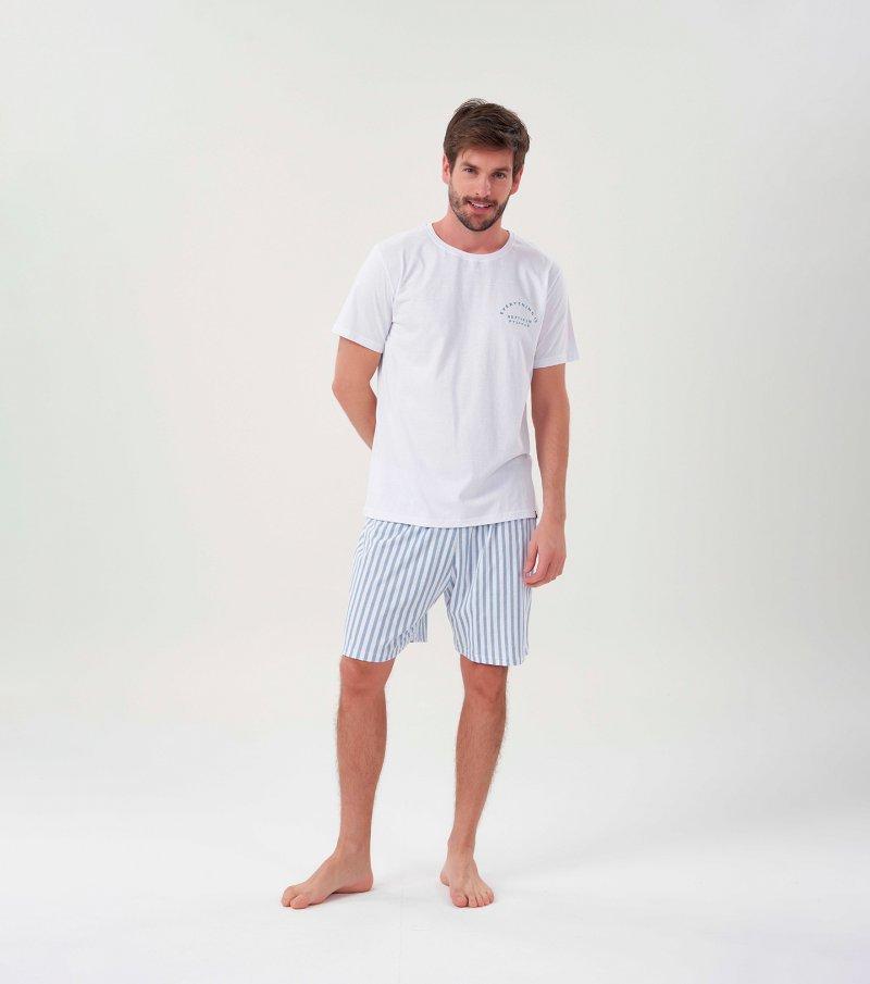 Pijama Manga Curta - 30041