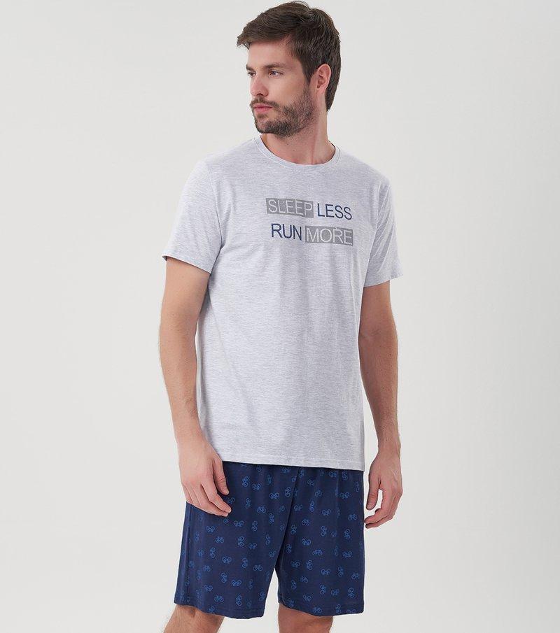 Pijama Manga Curta - 30043