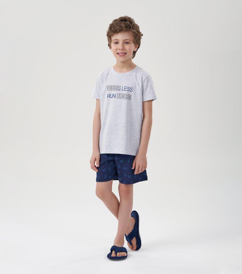 Pijama Manga Curta Infantil - 66373