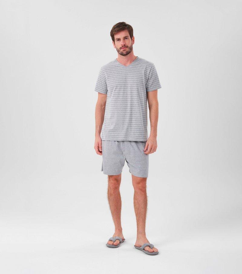 Pijama Manga Curta - 30047