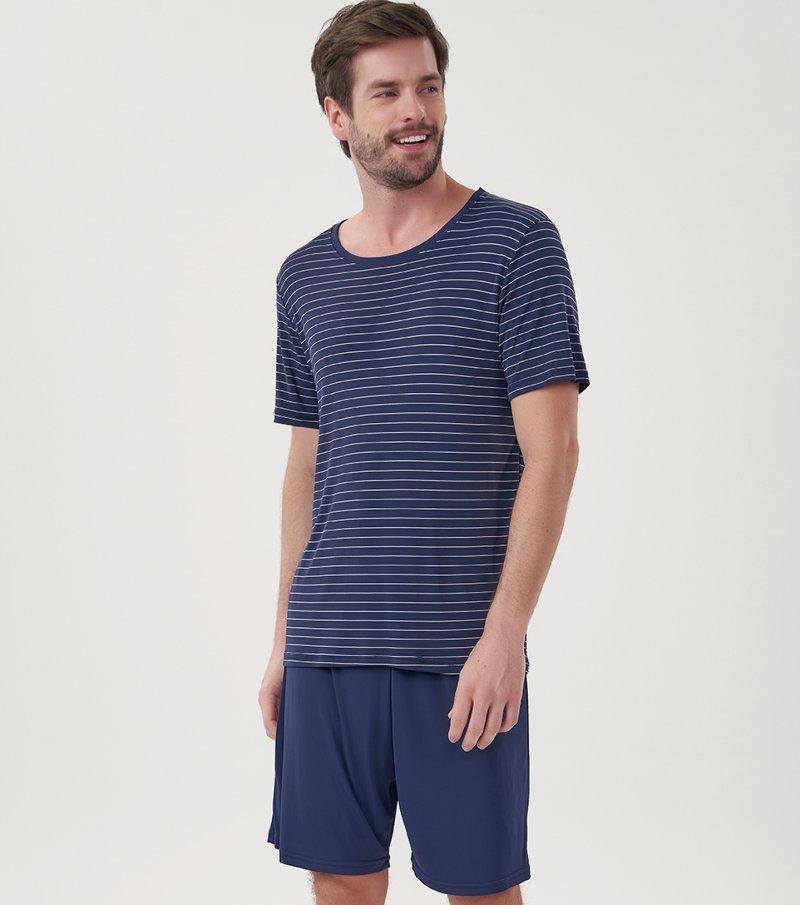 Pijama Manga Curta - 30049
