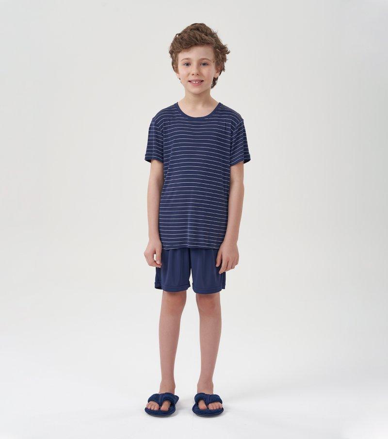 Pijama Manga Curta Infantil - 66374