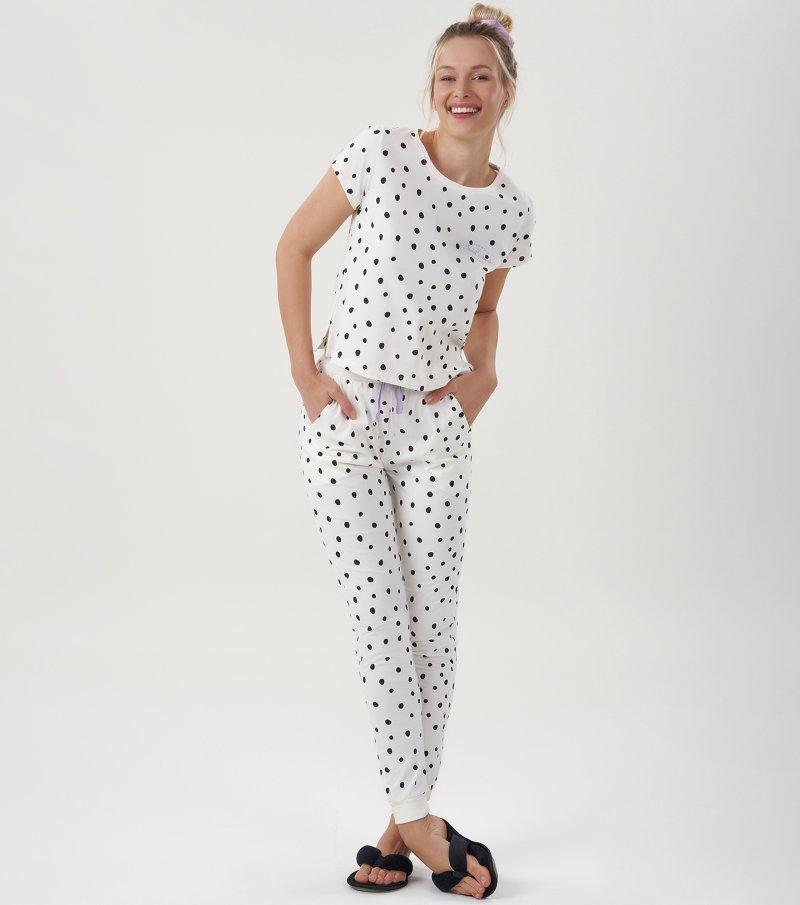 Pijama Manga Curta - 12441
