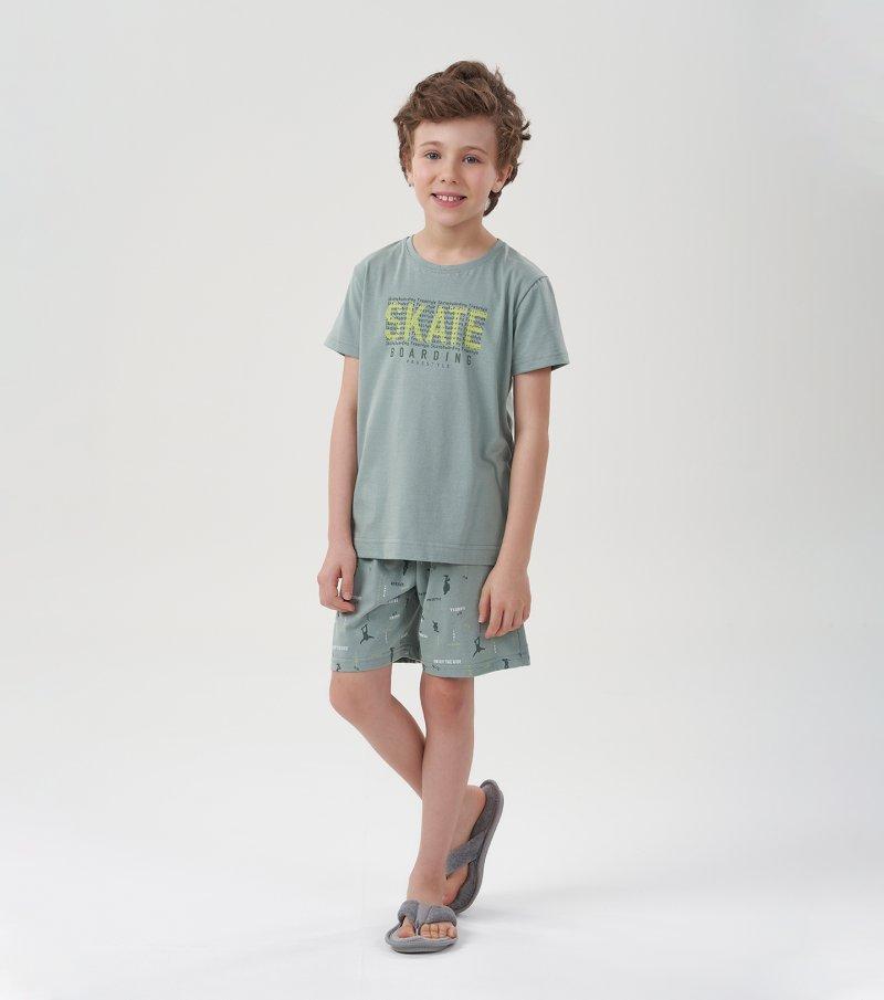 Pijama Manga Curta Infantil - 66376