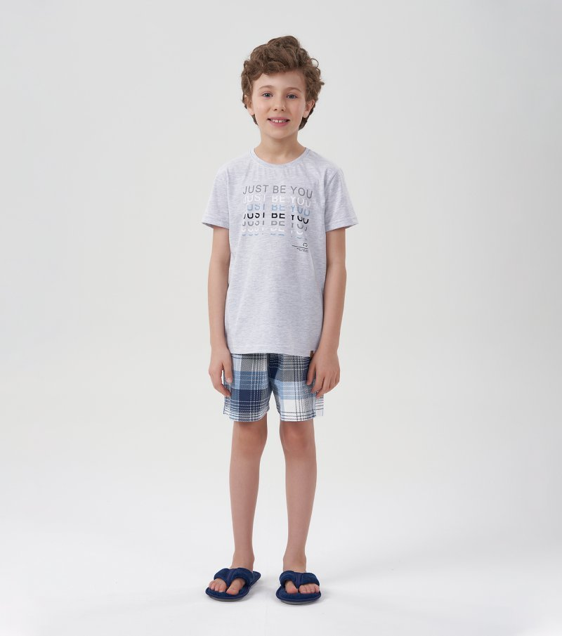 Pijama Manga Curta Infantil - 66378