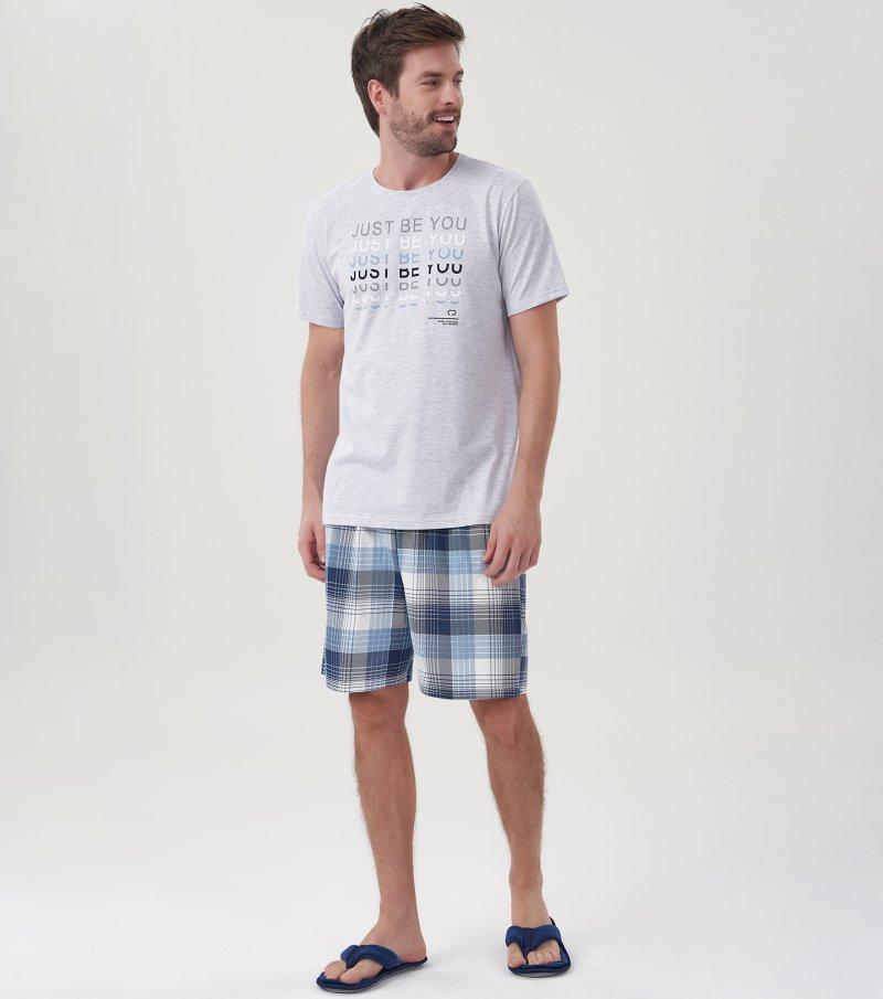 Pijama Manga Curta - 30054