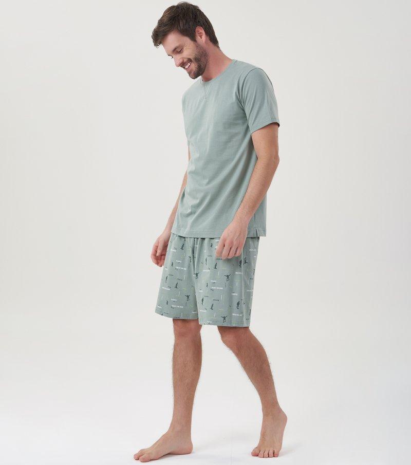 Pijama Manga Curta - 30052