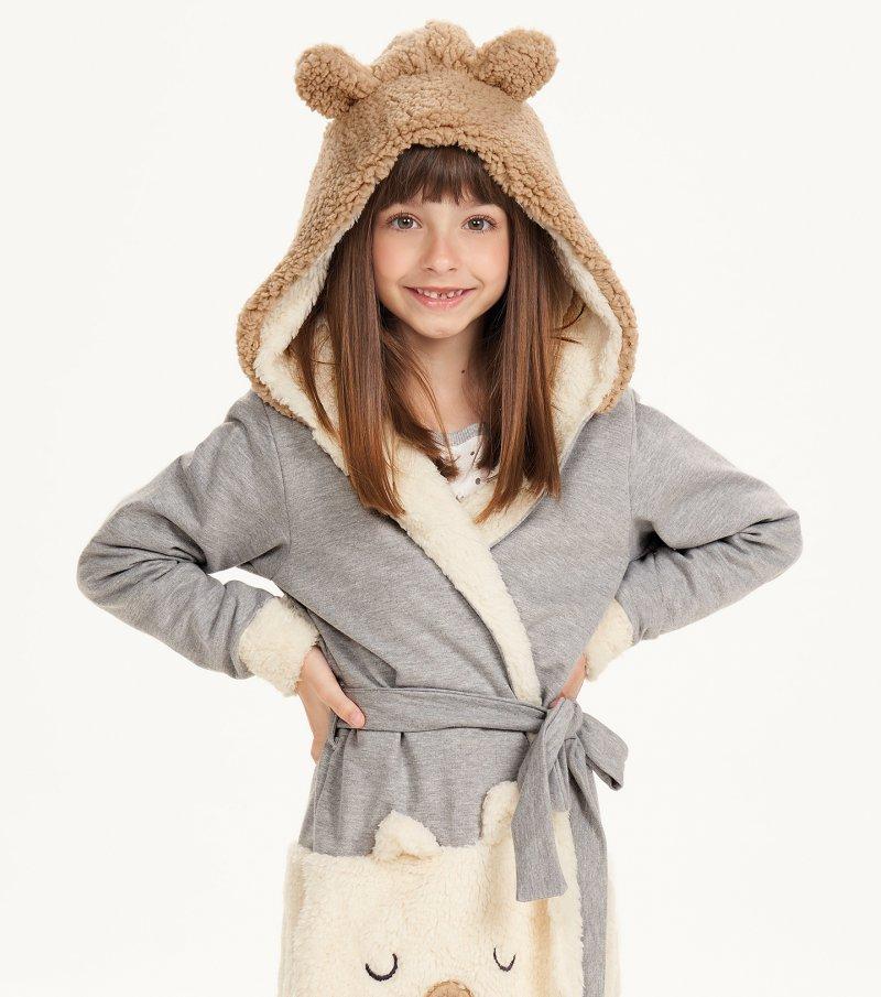 Robe Manga Longa Com Capuz Infantil - 67507