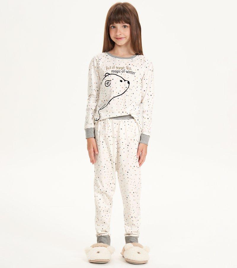 Pijama Manga Longa Infantil - 67506