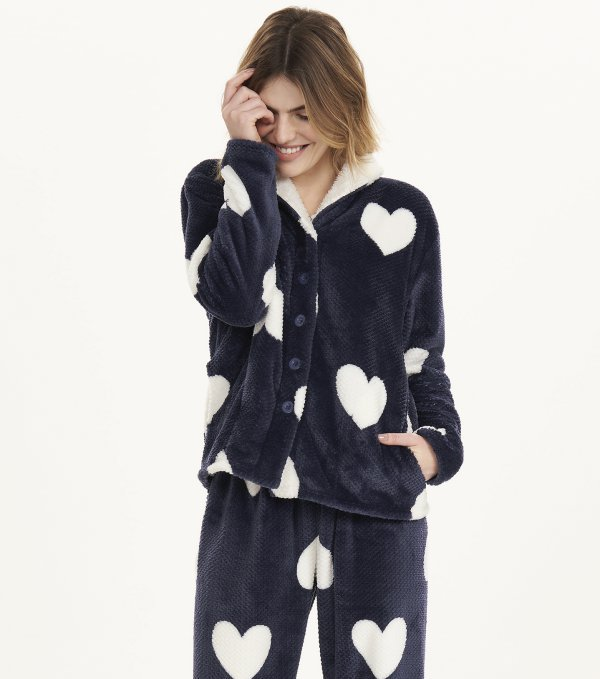 Pijama Manga Longa com Abertura - 12501