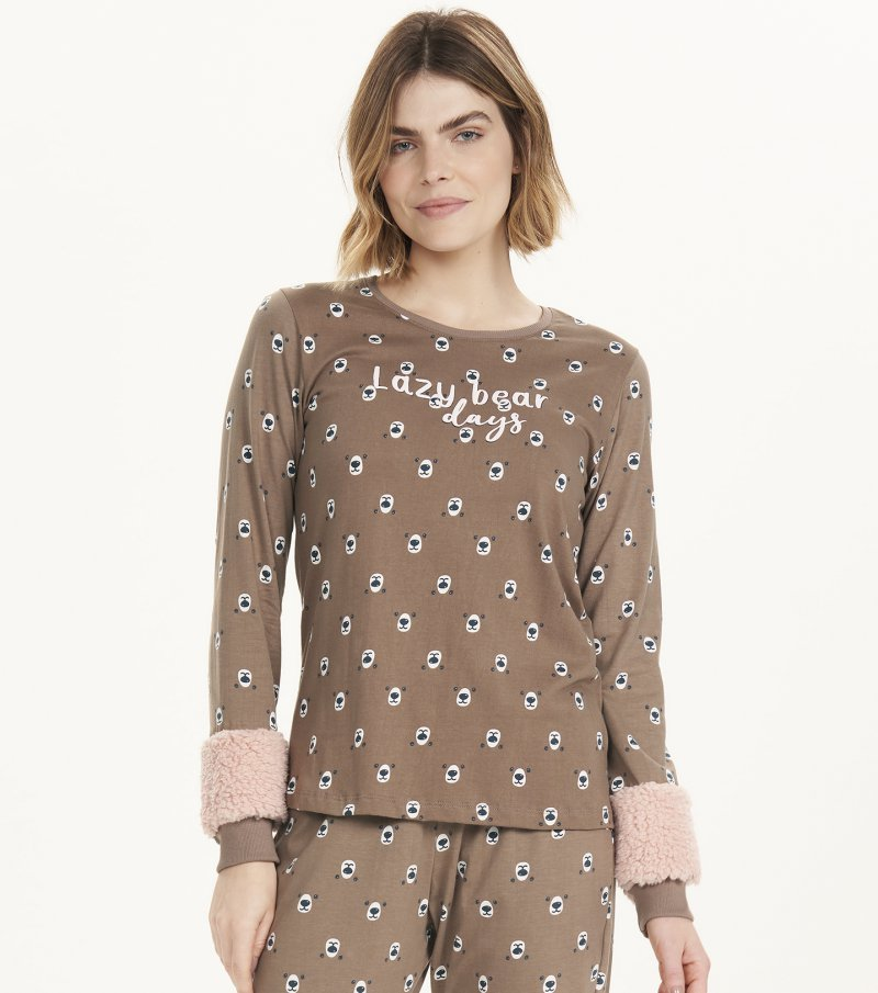 Pijama Manga Longa - 12561