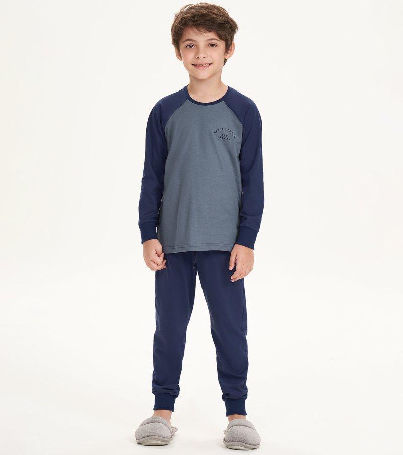 Pijama Manga Longa Infantil - 66382