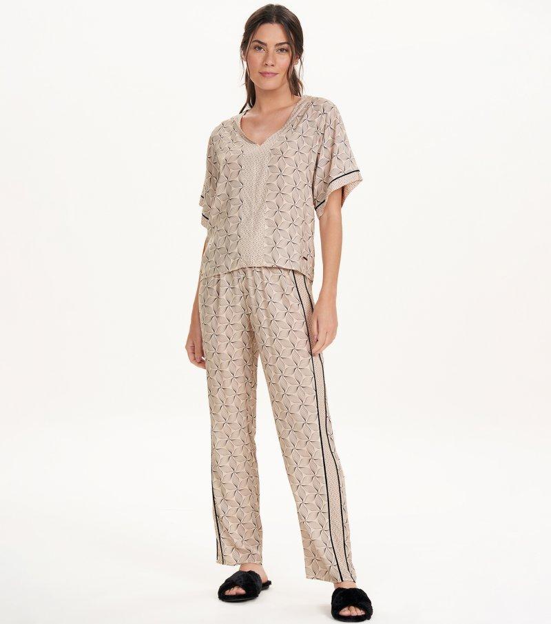 Pijama Manga Curta - 11156