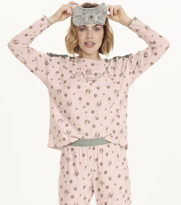 Pijama Manga Longa - 12563