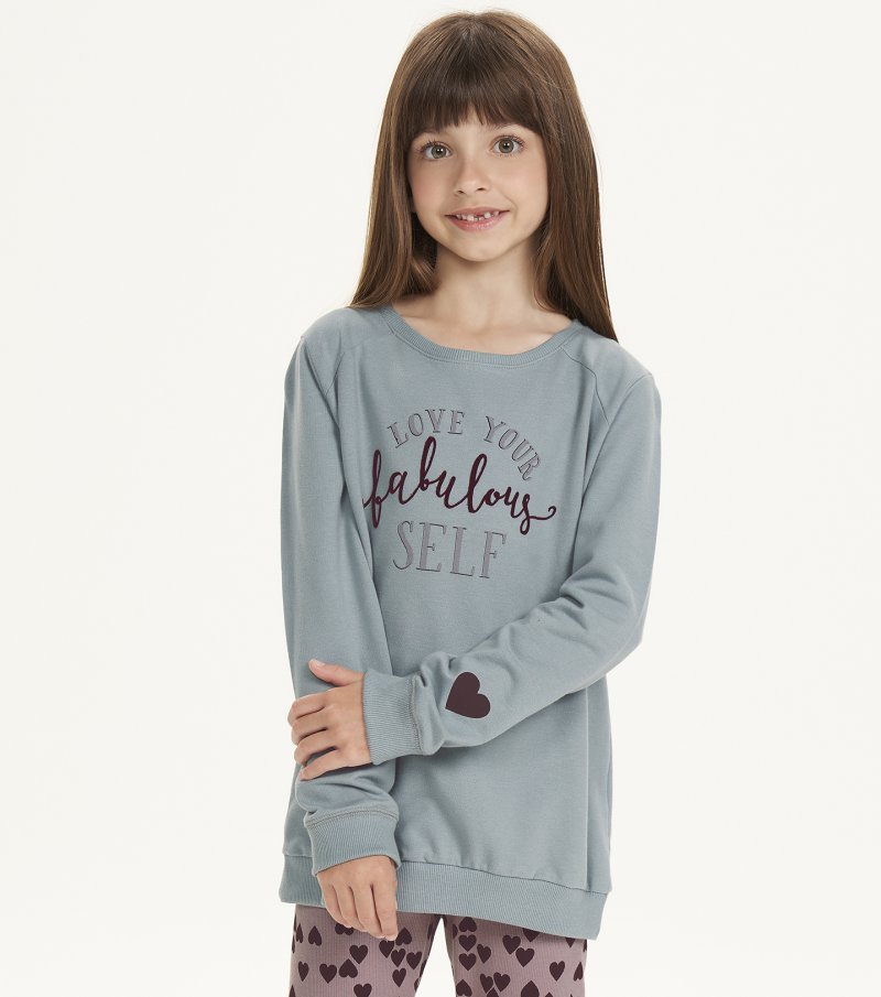 Pijama Manga Longa Com Legging Infantil - 67510